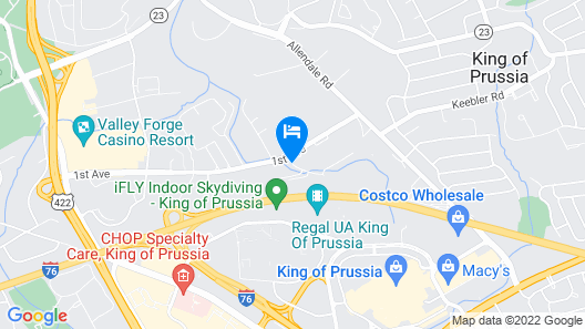Extended Stay America Philadelphia - King of Prussia Map