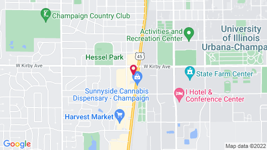 Holiday Inn Champaign Map