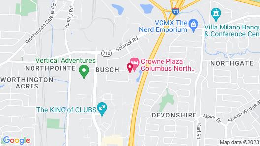 Crowne Plaza Columbus North- Worthington Map