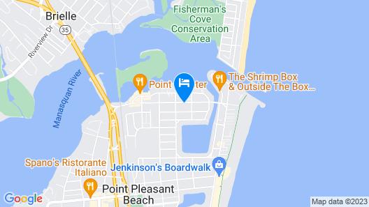 Boardwalk Beach Inn Map