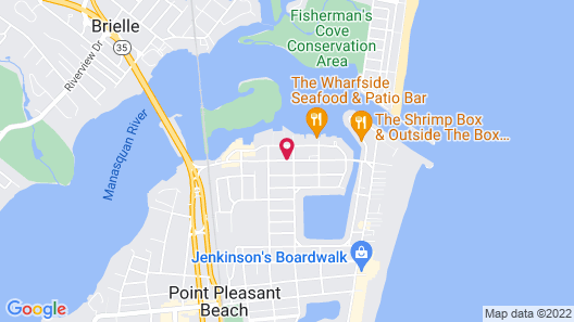 Shore Point Motel Map