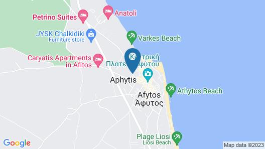 Milos Apartments Map