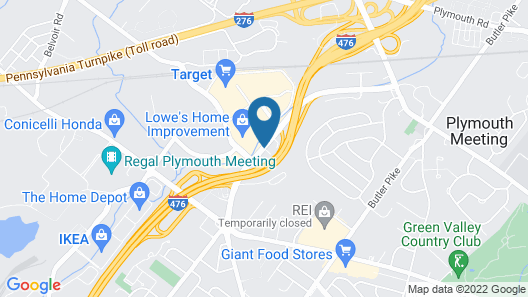 Hampton Inn Plymouth Meeting Map