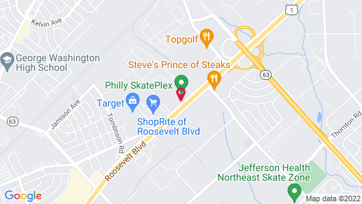 Motel 6 Philadelphia, PA - Northeast Map
