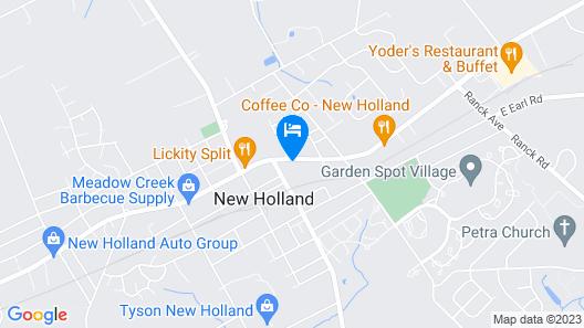 The Hollander Motel Map