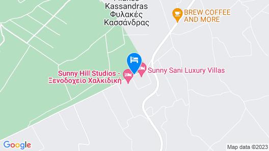 Sunny Sani Luxury Villas Map
