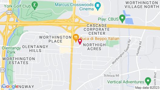 Econo Lodge Worthington Map