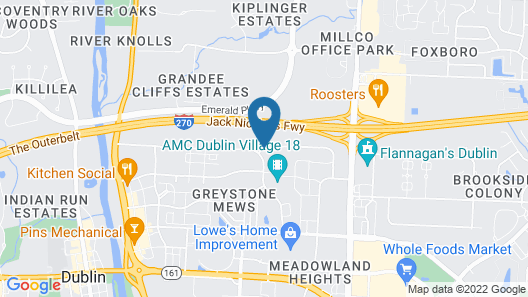 Cloverleaf Suites Columbus - Dublin Map