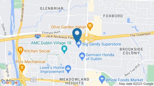 Hampton Inn Columbus/Dublin Map