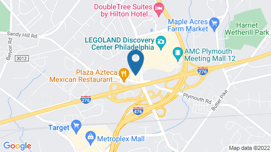 Extended Stay America Suites Philadelphia Plymouth Meeting Map