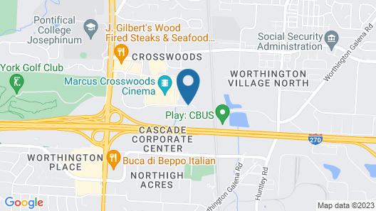 WoodSpring Suites Columbus North I-270 Map