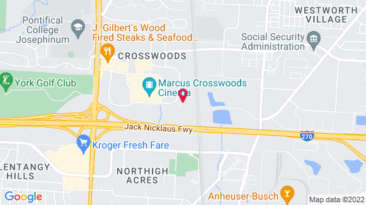 MainStay Suites Columbus Worthington Map