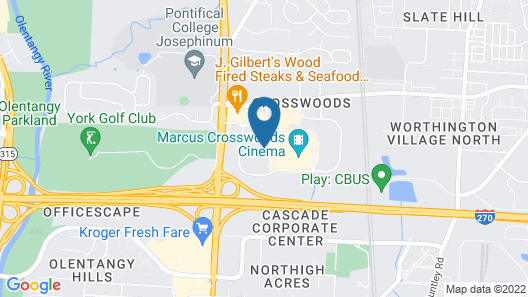Extended Stay America Suites Columbus Worthington Map