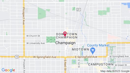 Hyatt Place Champaign-Urbana Map