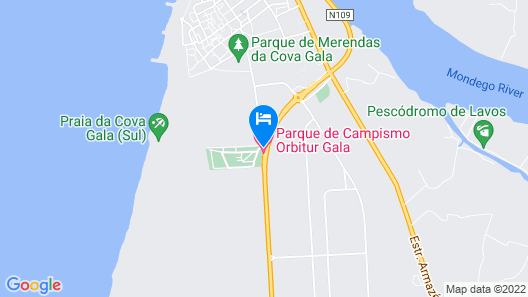 Parque de Campismo Orbitur Gala Map