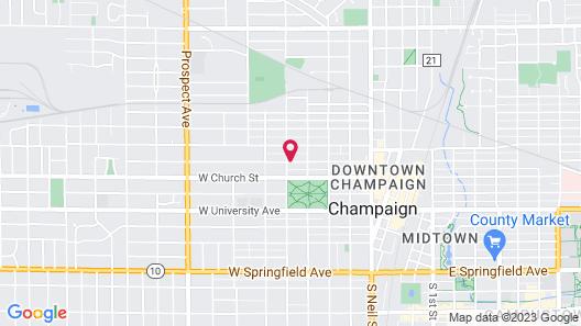 Champaign Garden Inn Map