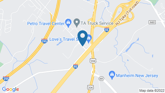Candlewood Suites Bordentown-Trenton Map