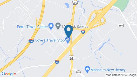 Hampton Inn Bordentown Map