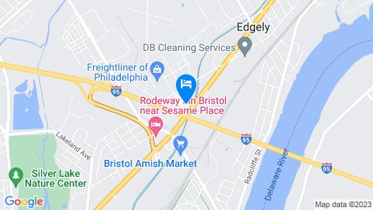 Clarion Inn Levittown - Philadelphia Langhorne Map