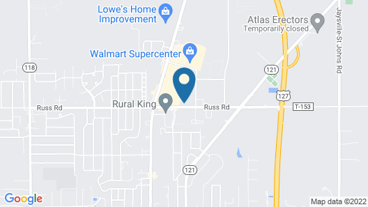 Quality Inn Greenville North Map