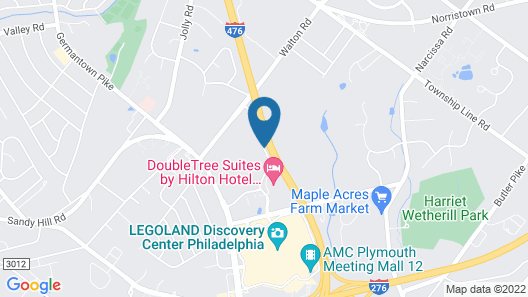 Courtyard by Marriott Philadelphia Plymouth Meeting Map