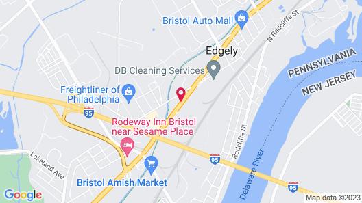 Motel 6 Levittown, PA - Bensalem Map