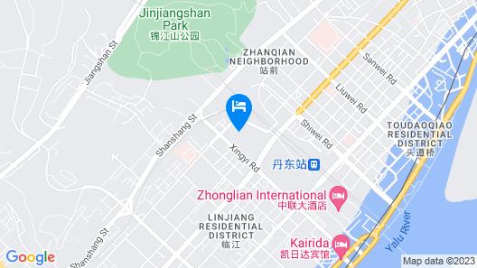 Hanting Express Dandong Train Station Map