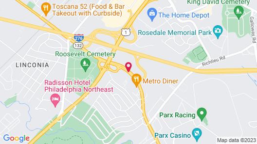 Hampton Inn & Suites Philadelphia/Bensalem Map