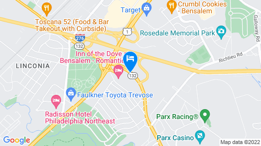 Hampton Inn & Suites Philadelphia/Bensalem Map