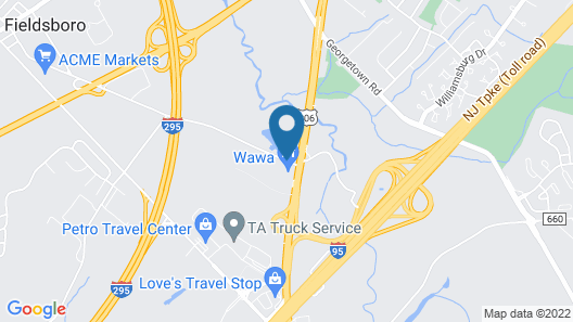 Best Western Bordentown Inn Map