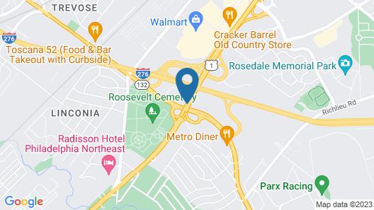 Red Roof Inn Philadelphia - Trevose Map