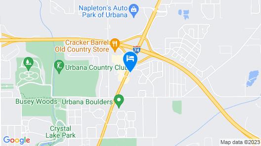 Motel 6 Urbana, IL Map