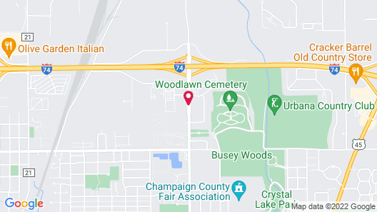 Comfort Suites Urbana Champaign, University Area Map