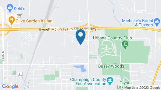 Radisson Hotel & Conference Center Champaign Urbana Map