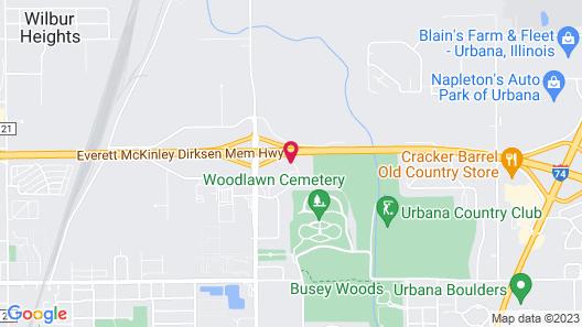 Rodeway Inn Urbana Champaign University Area Map