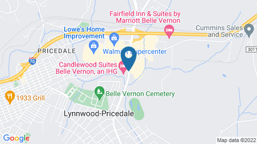 Candlewood Suites Belle Vernon Map