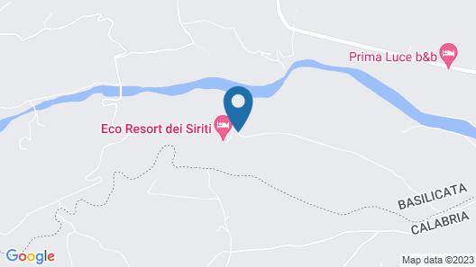 Eco Resort Dei Siriti Map