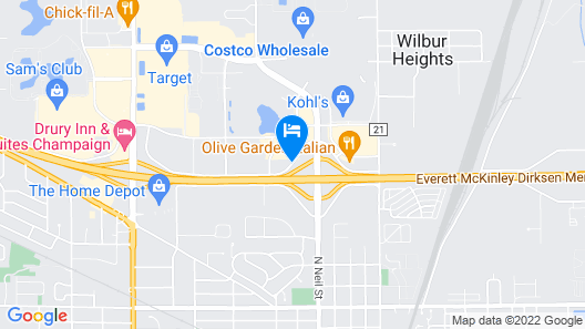 Red Roof Inn Champaign - University Map