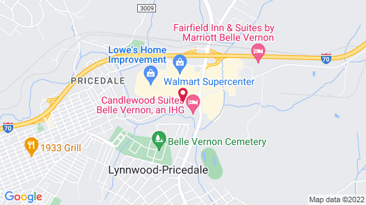 Hampton Inn Belle Vernon Map
