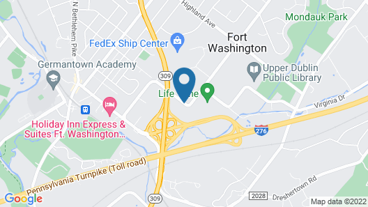 Best Western Fort Washington Inn Map