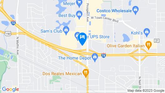 Drury Inn & Suites Champaign Map
