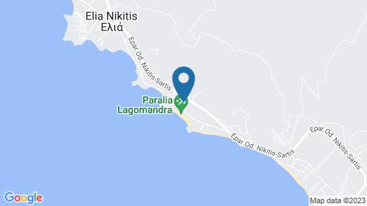 Lagomandra Beach Hotel Map