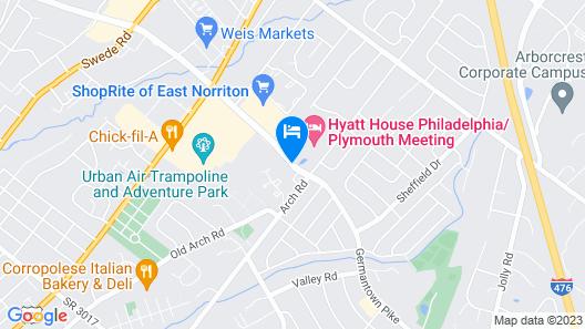 HYATT house Philadelphia/Plymouth Meeting Map