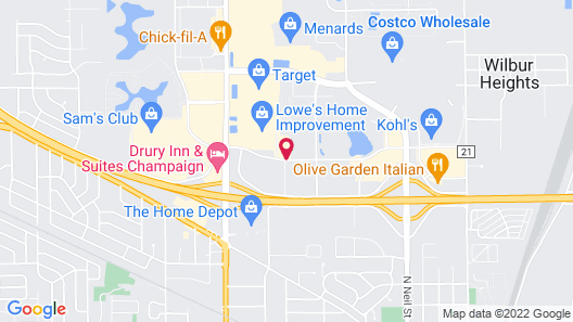 Extended Stay America Champaign - Urbana Map