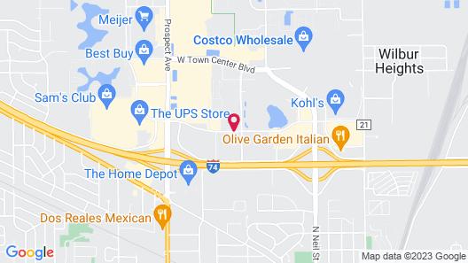 Residence Inn Champaign Map