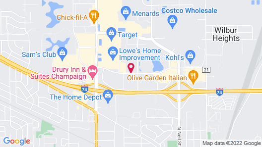 Best Western Plus Champaign/Urbana Inn Map