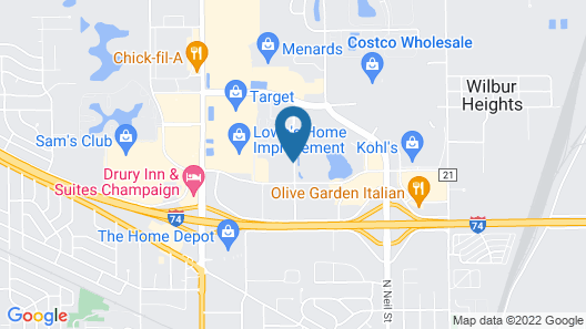 Candlewood Suites Champaign-Urbana University Area, an IHG Hotel Map