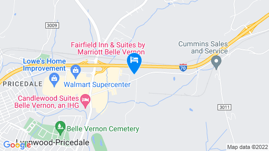 Fairfield Inn and Suites by Marriott Belle Vernon Map