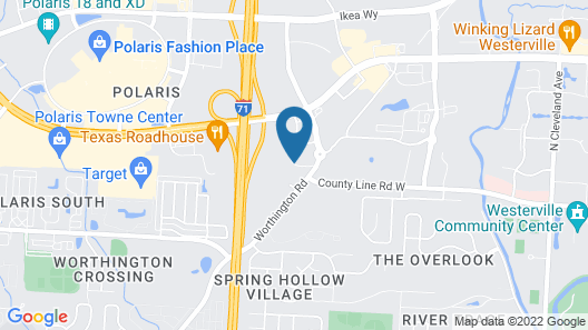Hampton Inn & Suites Columbus Polaris Map