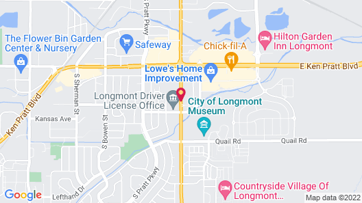 Hampton Inn Longmont Map